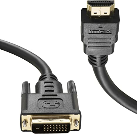 4.5ft HDMI to DVI Cable,HDMI Male to DVI Male Adapter Support 1080P 3D