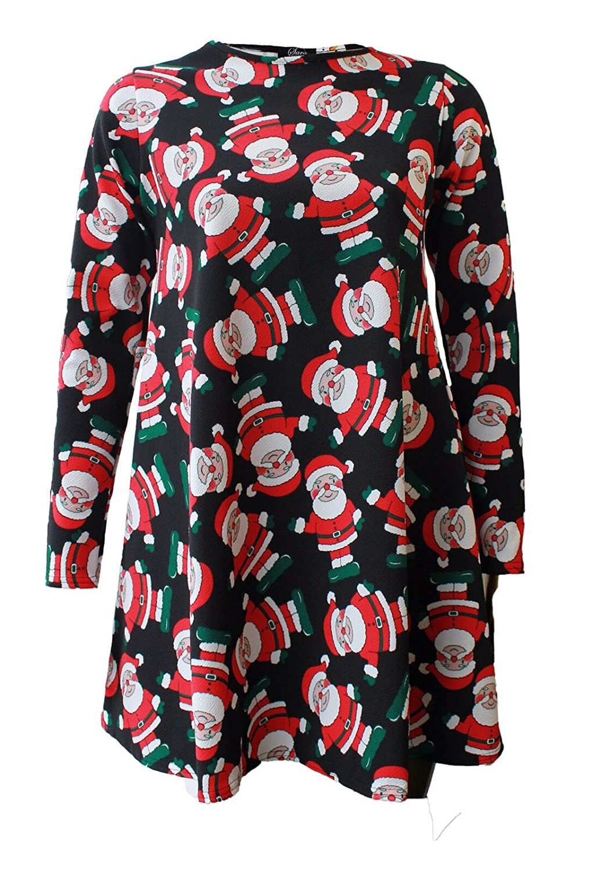 Fashion 4 Less Womens Printed Dress Amazon Clothing