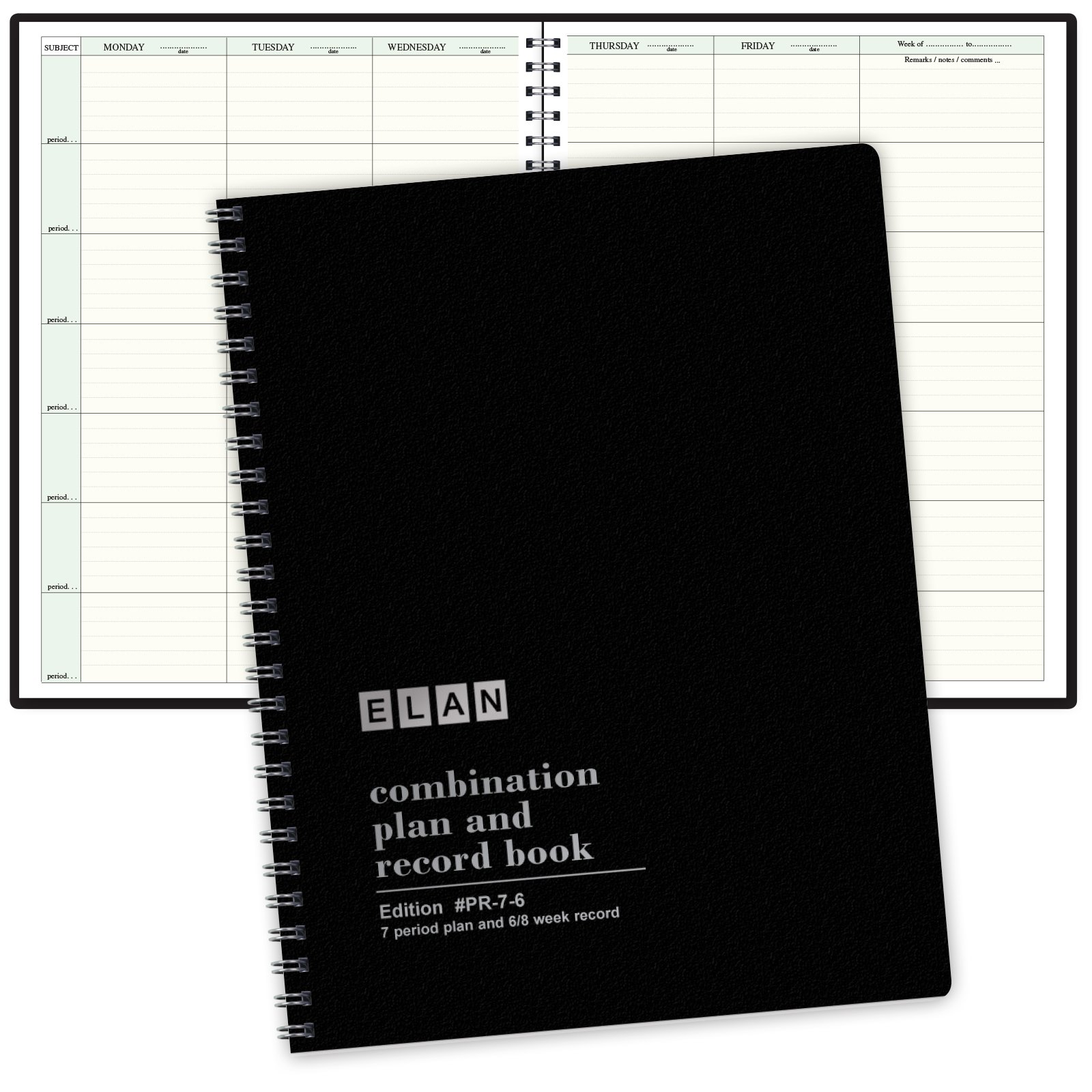Combination Plan and Record Book: One efficient 8-1/2'' x 11'' book for lesson plans and grades combines W101 and R6080 - (PR7-6)