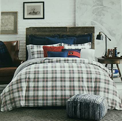 45961ce06fb23 Image Unavailable. Image not available for. Color  Tommy Hilfiger Evening  Plaid Flannel Duvet Set ...