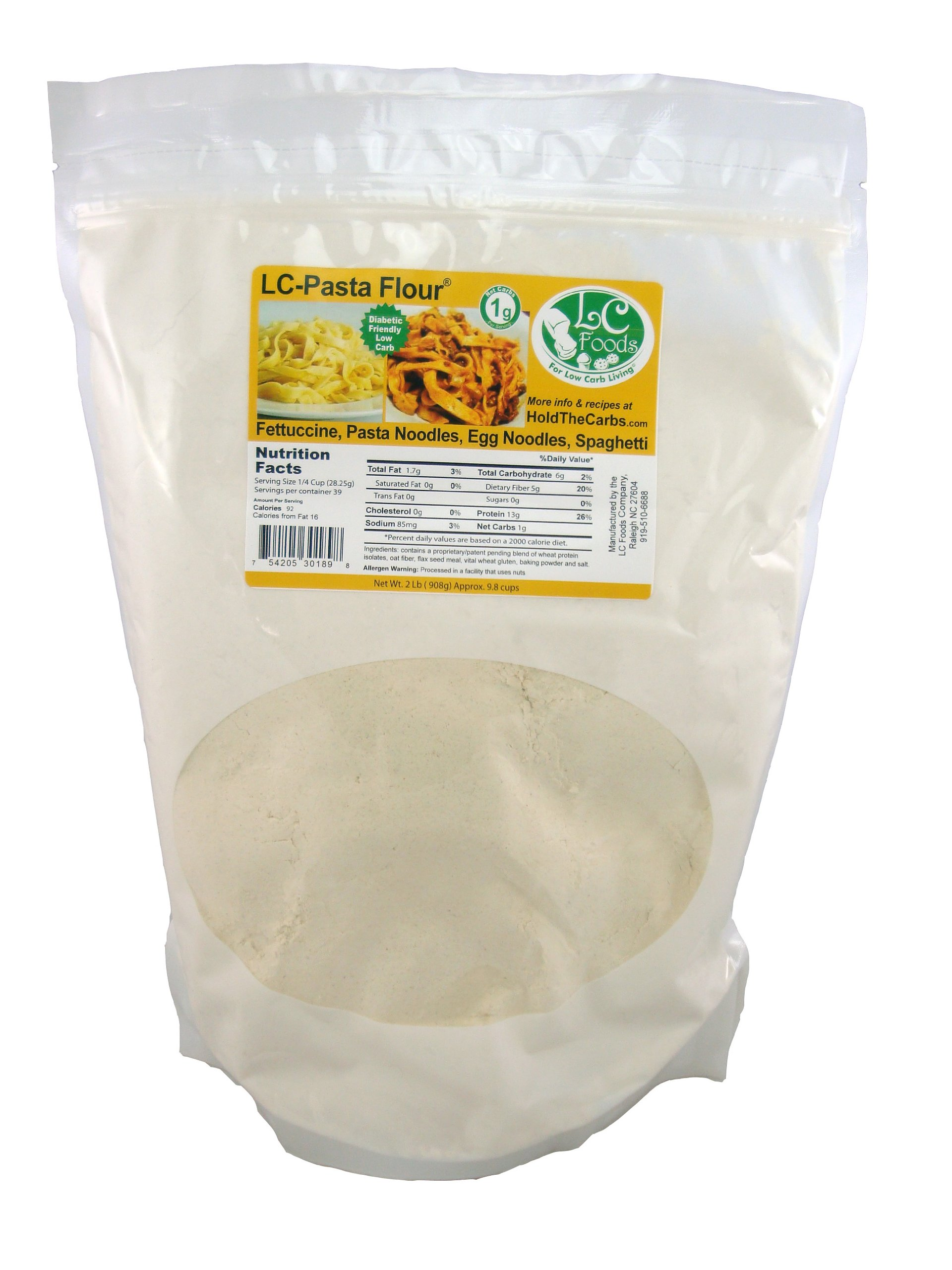 Low Carb Pizza & Bagel Flour (2 LBS) - LC Foods - All Natural - No Sugar - Diabetic Friendly