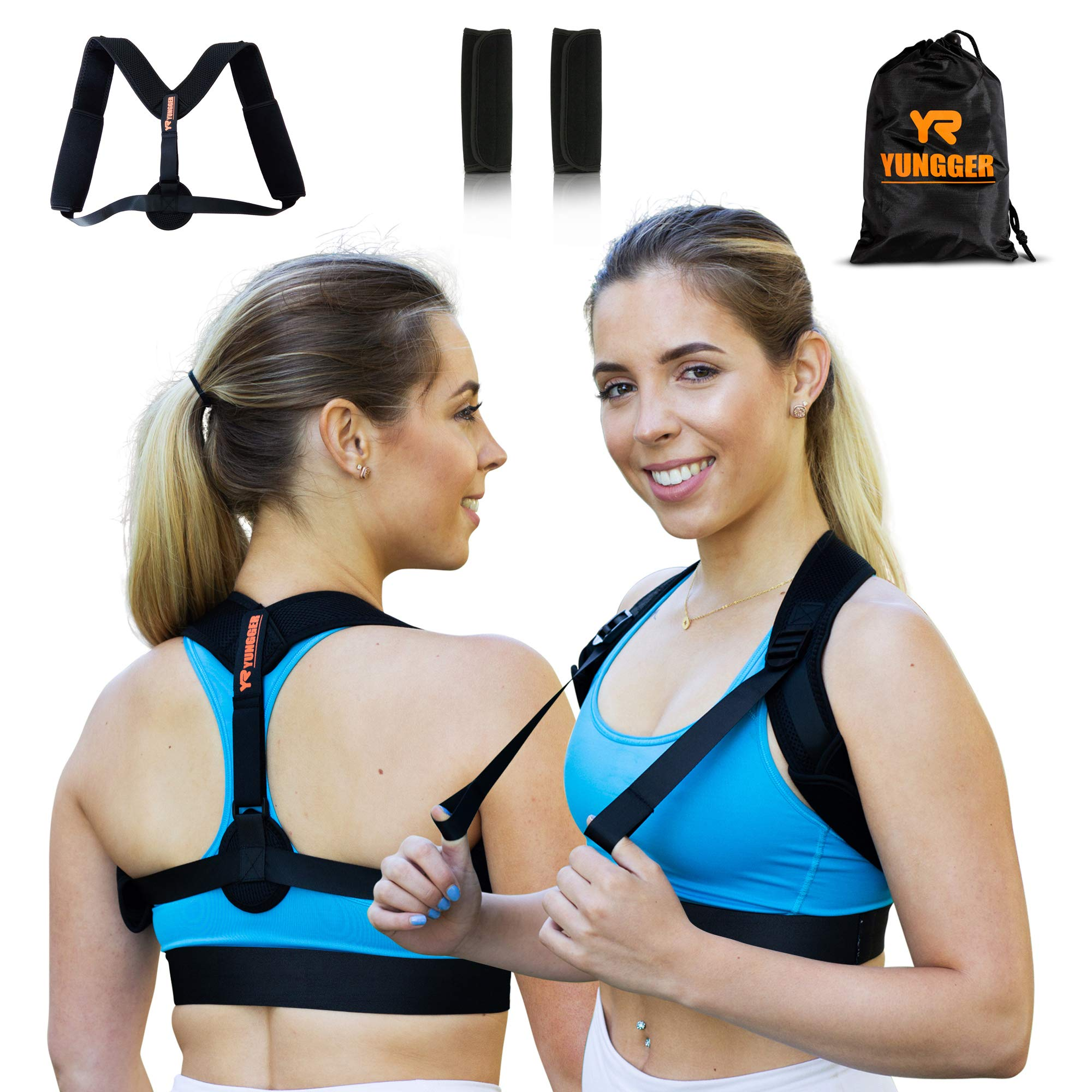 Yungger Back Posture Corrector for Women & Men-Orthopedic Brace-Discreet Design-Clavicle Support-Comfortable & Effective-Hunching & Slouching-Therapeutic Performance-Premium Breathable