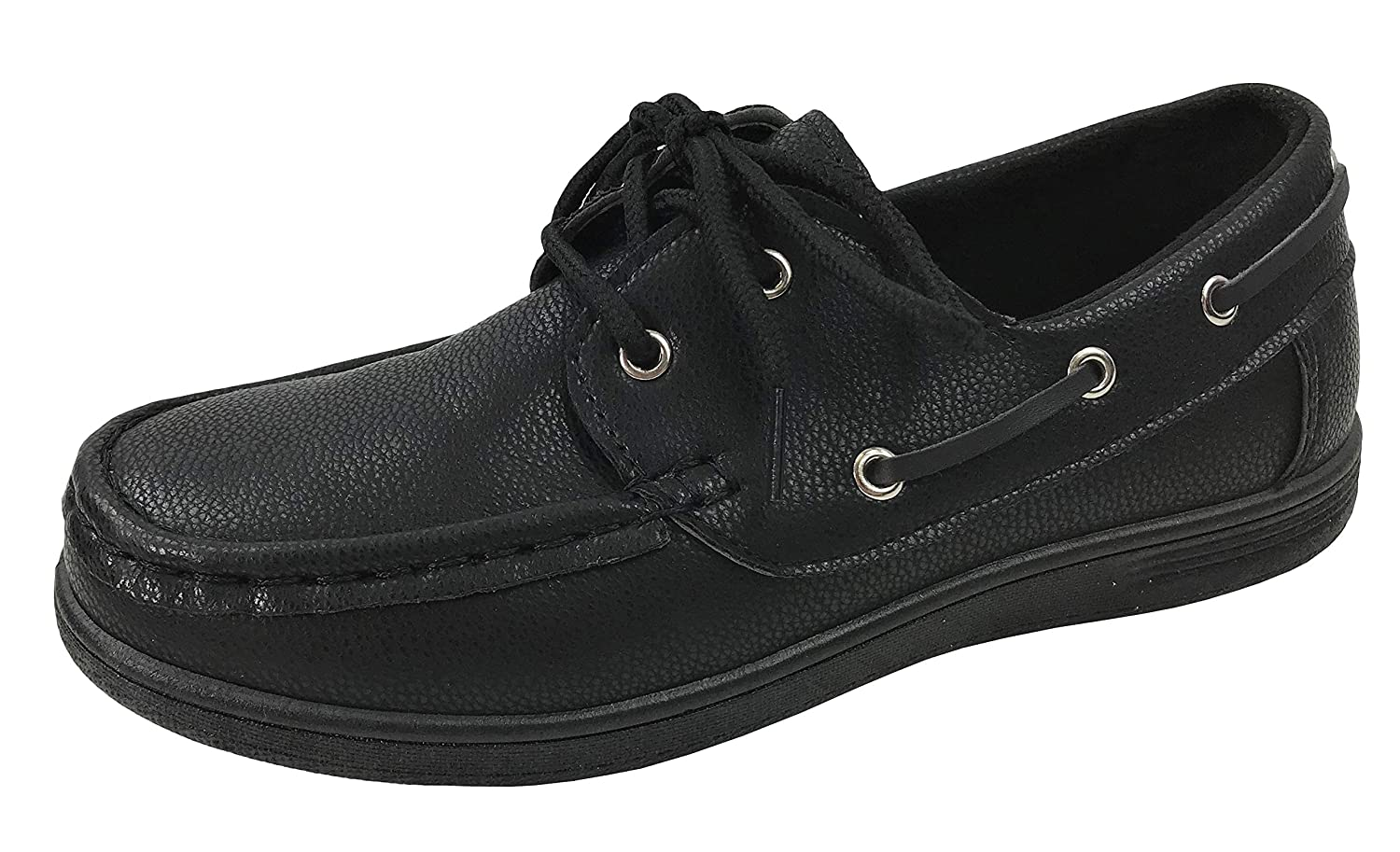 Boys Classic Faux Leather Boat Shoe Oxford Dress Lace-Up Loafer