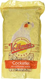 Volkman Seed Avian Science Super Cockatiel No Sunflower 2lb