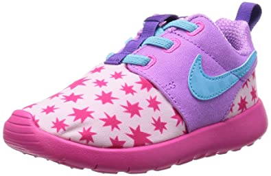 abb6ad344b58c Nike Girls Roshe Run Print Lifestyle Casual Running Toddler Size (Prism Pink Tide  Pool