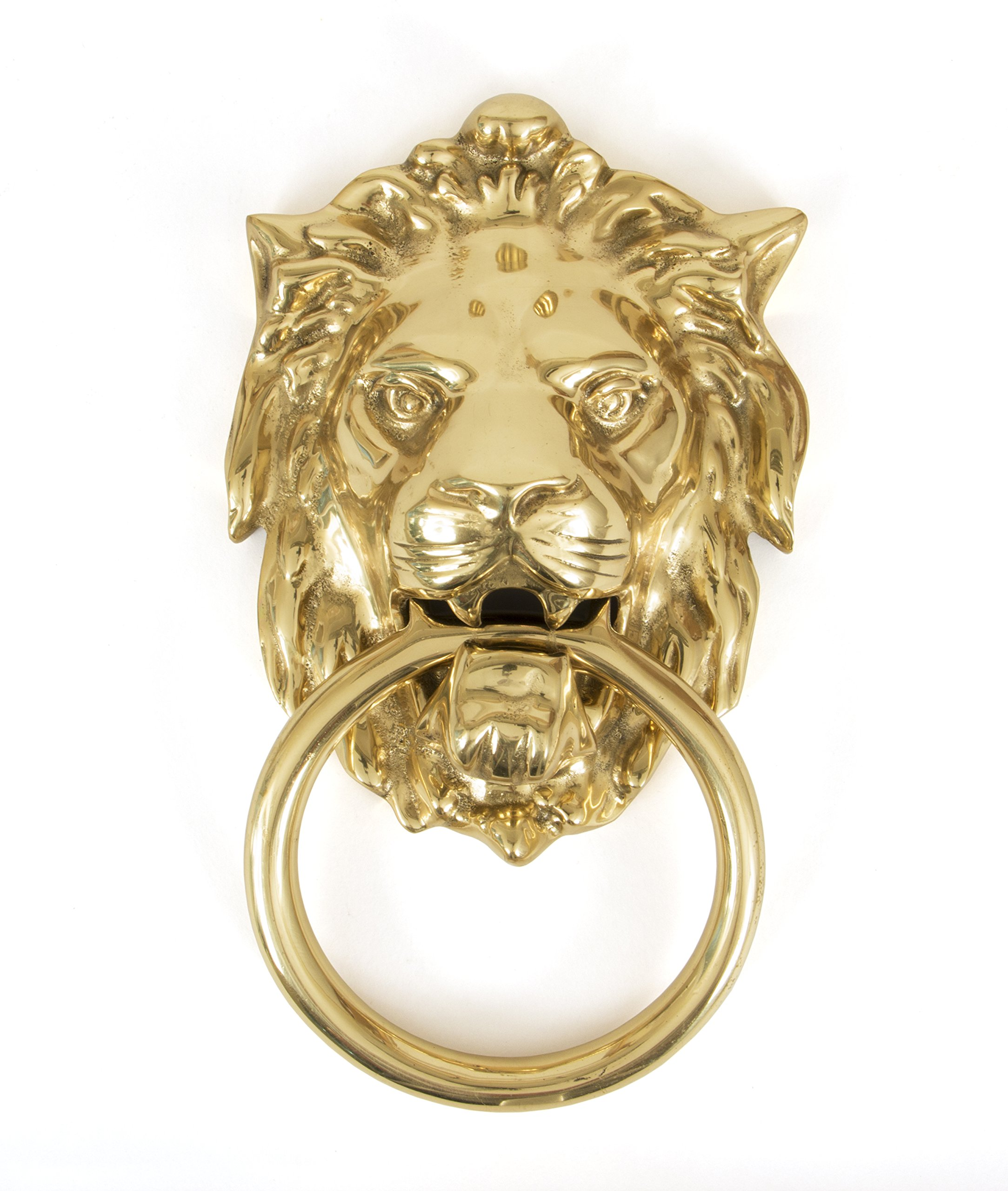 From the Anvil 33020 Lion's Head Door Knocker - Polished Brass
