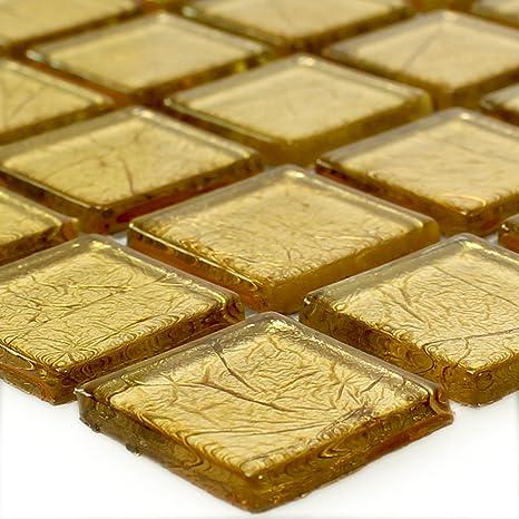Hervorragend Glas Mosaikfliese Crystal Gold Struktur   Wandfliesen   Mosaik ...