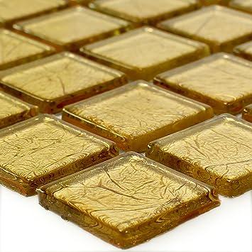 Mosaikfliesen Glas Crystal Gold Struktur MUSTER | Wandfliesen | Mosaik  Fliesen | Glasmosaik | Fliesen