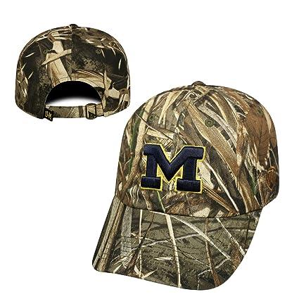 super popular 096de 60526 Image Unavailable. Image not available for. Color  Michigan Wolverines Crew  Max Realtree Camo Adjustable Hat ...