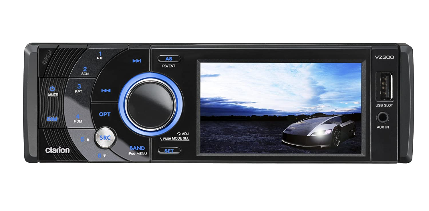 amazon com clarion vz300 3 5 in dash dvd cd mp3 usb receiver amazon com clarion vz300 3 5 in dash dvd cd mp3 usb receiver car electronics