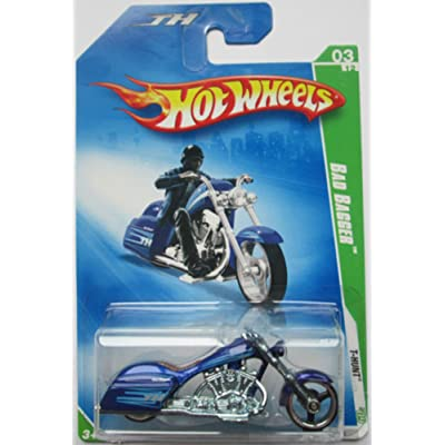 Hot Wheels 2009 Regular Treasure Hunt 3 of 12 Bad Bagger Motorcycle: Toys & Games