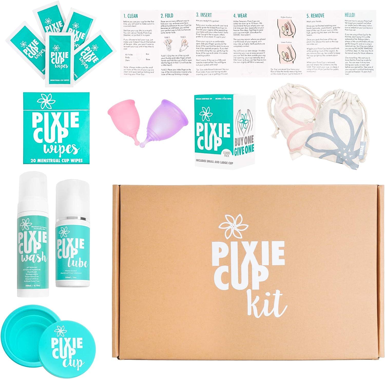 Pixie Cup Kit de iniciación de copa menstrual, la mejor manera de ...
