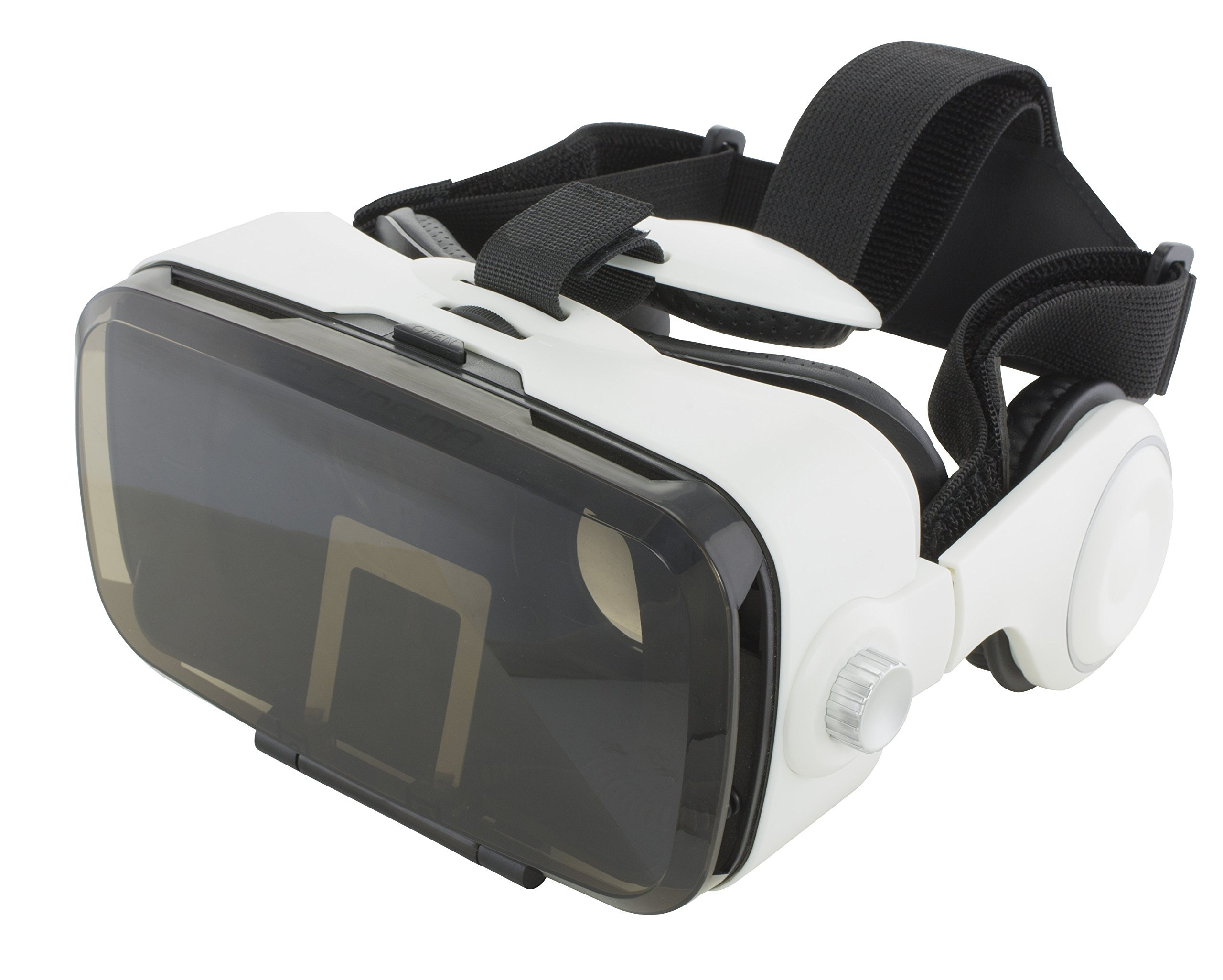 VR Headset with Remote and Built-in Headphones