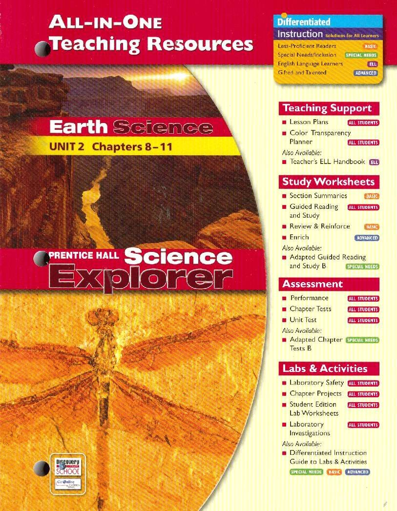 All-In-One Teaching Resources Book Earth Science Unit 2 Chapters 8-11 (Prentice Hall Earth Science) PDF