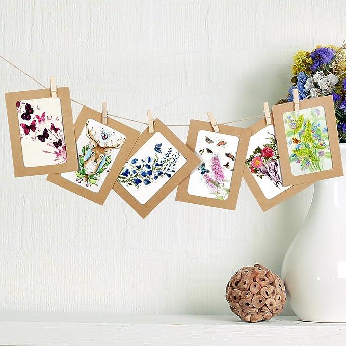 NOBBEE Paper Photo Frame 4x6 Kraft Paper Picture Frames 30 PCS DIY ...