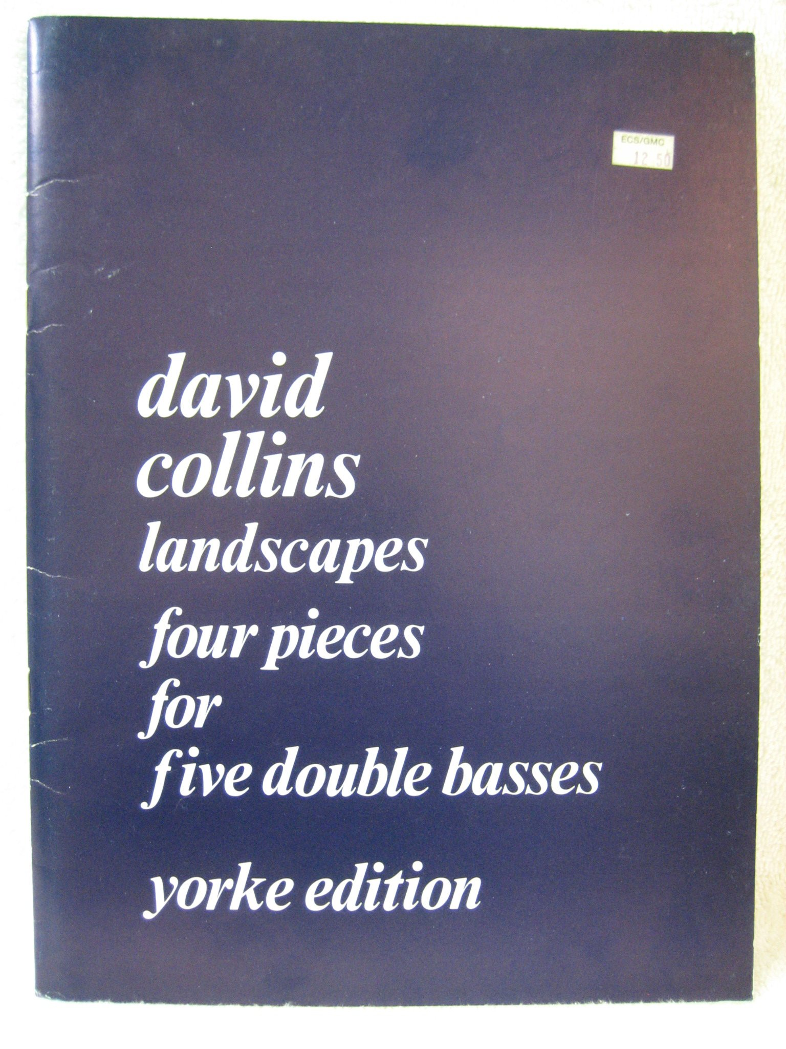 david collins four pieces for five double basses sheet music yorke edition