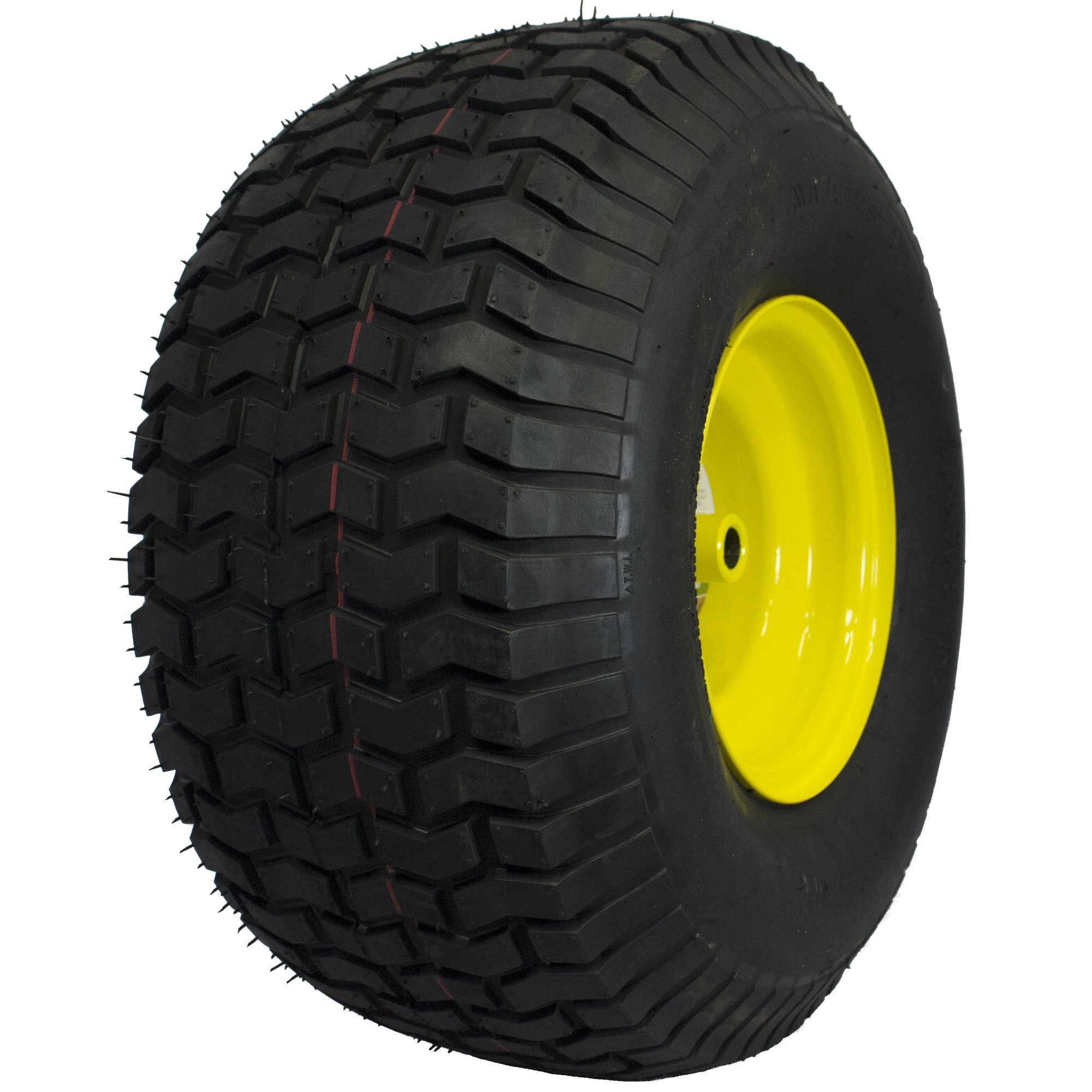 MARASTAR 21424 20X8.00-8 Rear Tire Assembly Replacement for John Deere Riding Mowers, Yellow