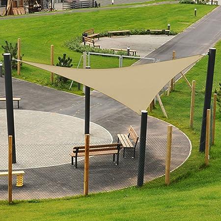 ASAB Toldo Triangular para jardín con Bloqueo UV 90% para Exteriores, Anillo en Forma de D, Cuerda Segura Resistente al Moho, Arena: Amazon.es: Hogar