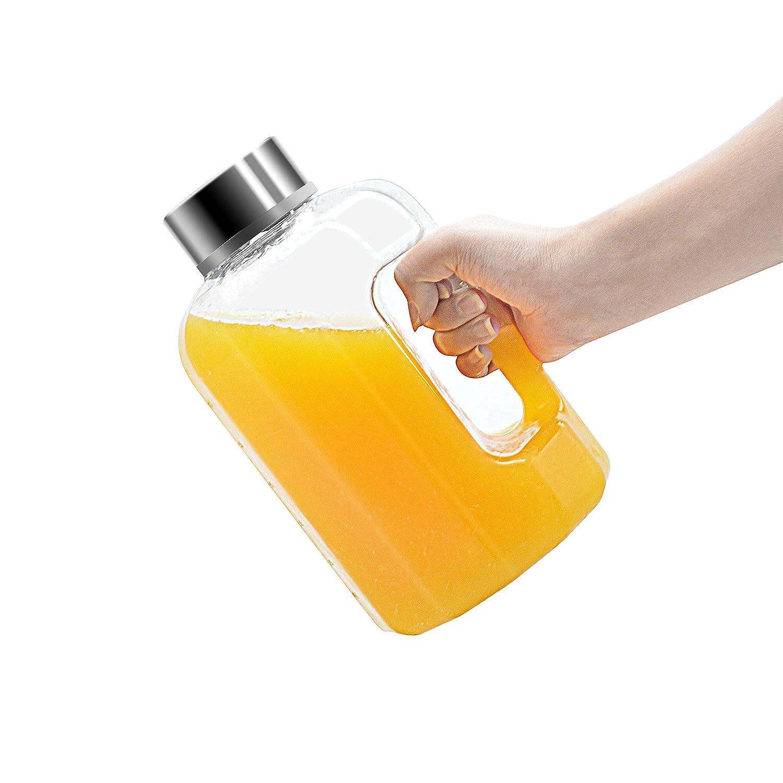 品質一番の BOTTLED 2.2L/75オンス JOY ウォータージャグ 2.2L/75オンス 大容量 漏れ防止 スポーツウォーターボトル BPAフリー ハンドル付き 漏れ防止 BPAフリー ウォーターボトル 飲料水容器 アウトドアハイキング&ジム用ウォーターボトル B07CXHNVRK, イイタテムラ:6f6ea58c --- vezam.lt