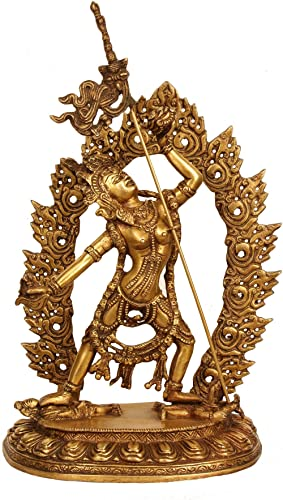 12 Large Vajrayogini Statue Hand Made Tibet Brass Goddess Figurine Rupa Nepal Decor Gift