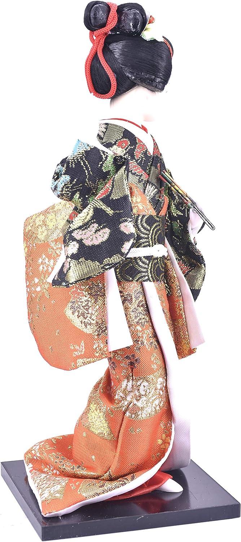 LHR trading inc 12 Japanese Geisha Oriental Doll Purple Purple