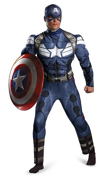 Amazon.com: Disfraz Disfraz de Marvel Capitán América ...
