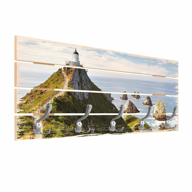 Bilderwelten Perchero de madera - Nugget Point Lighthouse ...