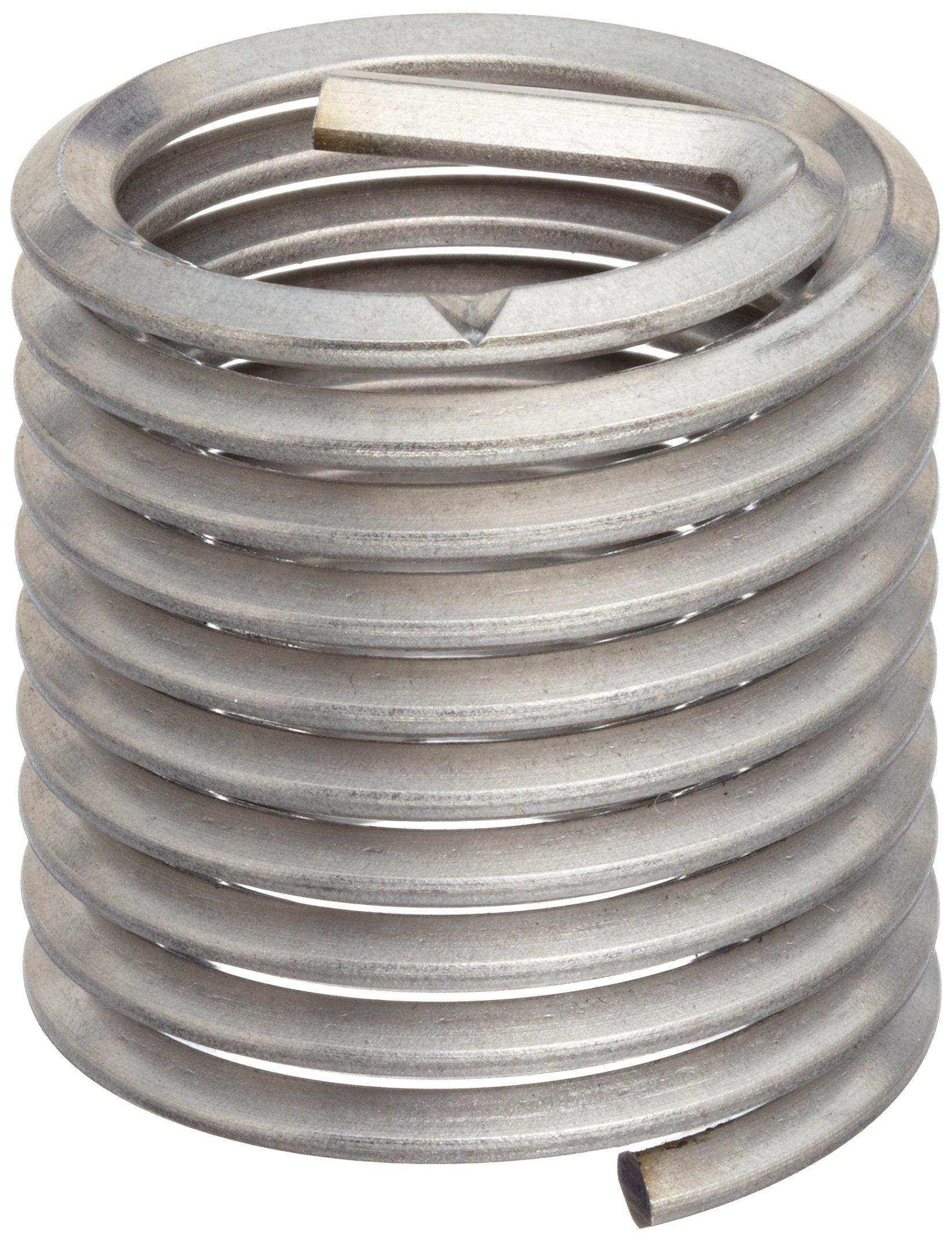 E-Z Lok Threaded Insert, 18-8 Stainless Steel, Helical, 5-40 Internal Threads, 0.250'' Length (Pack of 10)
