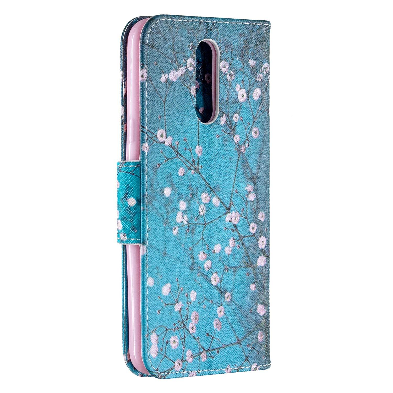 Custodia Portafoglio a Libro Pelle Porta Carte Chiusura Magnetica Antiurto Leather Wallet Case per LG K40 Lomogo Flip Cover LG K40 // K12+ LOBFE050253 L3 K12 Plus