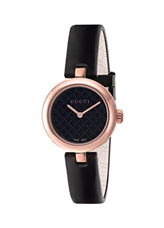91886004ab2 Amazon.com  Gucci Diamantissima Analog Display Swiss Quartz Black Women s  Watch(Model Ya141501)  Watches