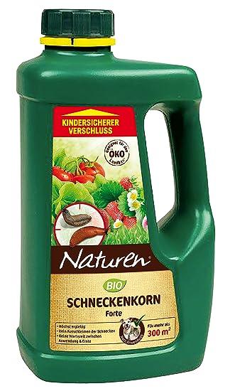 Naturen Bio Schneckenkorn Forte, Anwendungsfertiges Ködergranulat Zur Schneckenbekämpfung  Im Garten Und Gewächshaus, 950g Streudose