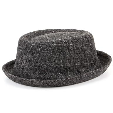 0b6ba1fa1e89b Hawkins - Sombrero Pork Pie de tweed con banda