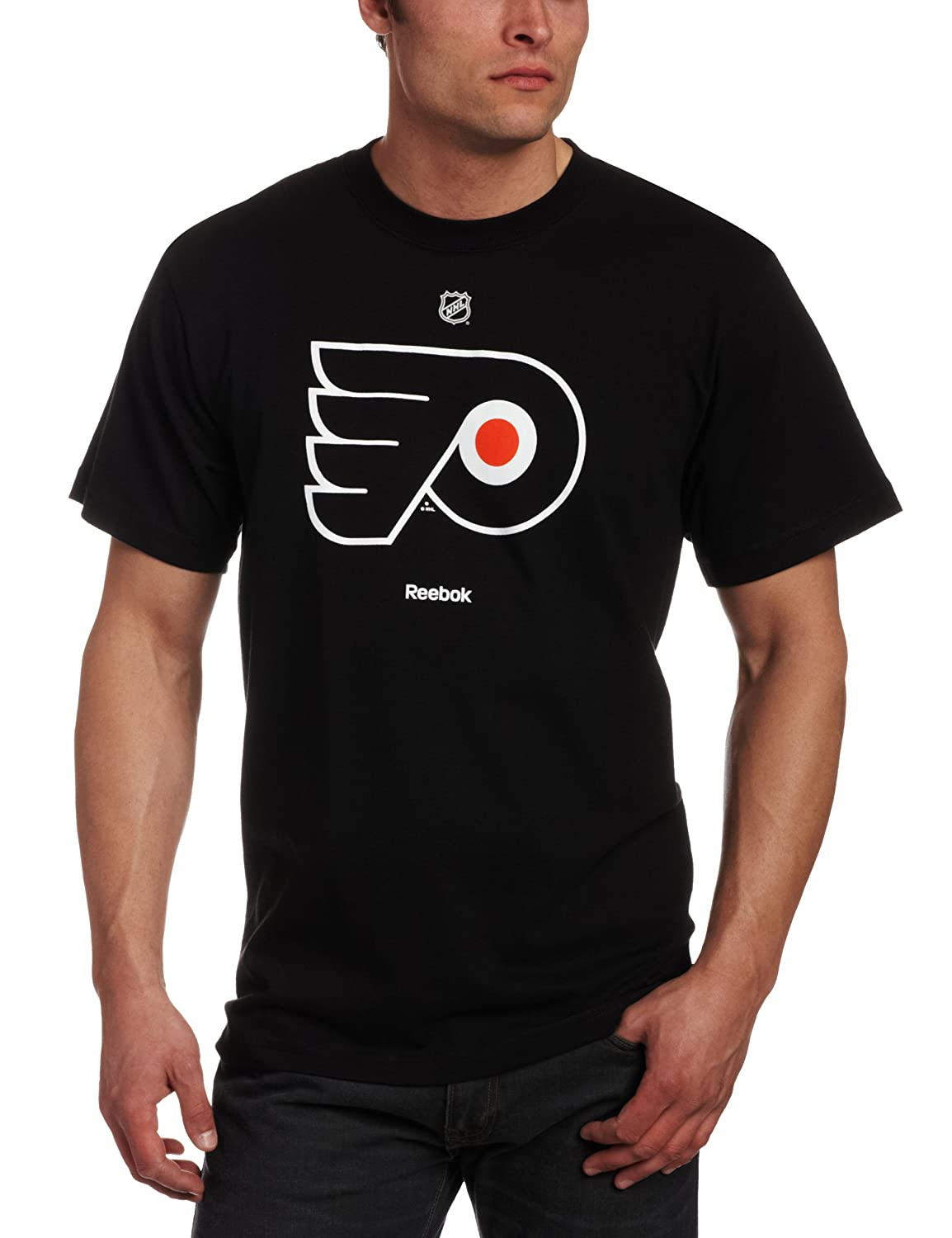 830605730 Amazon.com   NHL Philadelphia Flyers Primary Logo T-Shirt