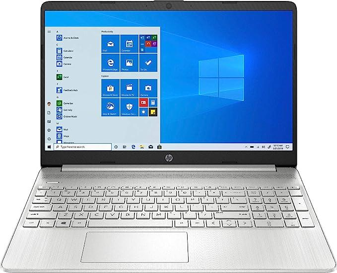 "2020 HP 15.6"" Touchscreen Laptop Computer/ 10th Gen Intel Quard-Core i5 1035G1 up to 3.6GHz/ 12GB DDR4 RAM/ 256GB PCIe SSD/ 802.11ac WiFi/ Bluetooth 4.2/ USB 3.1 Type-C/ HDMI/ Silver/ Windows 10 Home | Amazon"