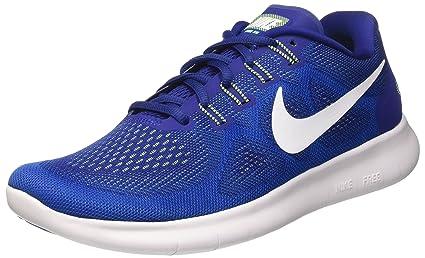 Mens Nike Free RN 2017 Running Shoe (White/Black/Pure Platinum 7.5)