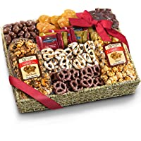 Chocolate Caramel and Crunch Grand Gift Basket - Warm Weather Packaging