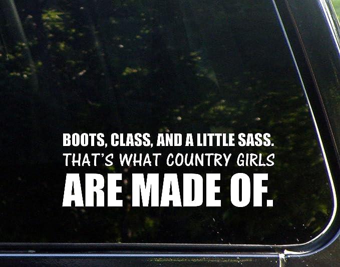 Cars 8-3//4 x 5-3//4 Trucks Etc. Keen Country Girl Pink Laptops Die Cut Decal Bumper Sticker for Windows