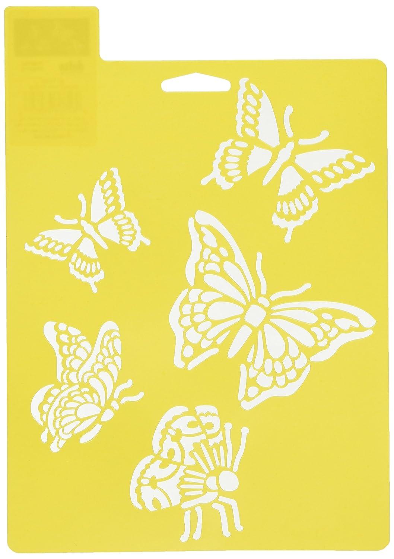 Delta Creative Stencil Mania Stencil, 7 by 10-Inch, 970820710 Butterflies Plaid Inc