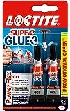 LOCTITE 1928787 SUPERGLUE-3 Lot de 2 * Power Flex 3gr