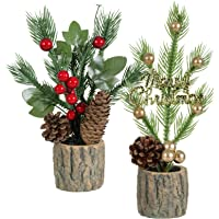 LITA Artificial Succulent Plants Fake Succulents Christmas Tree Decor in Potted for Indoor Decor Office Room Desk…