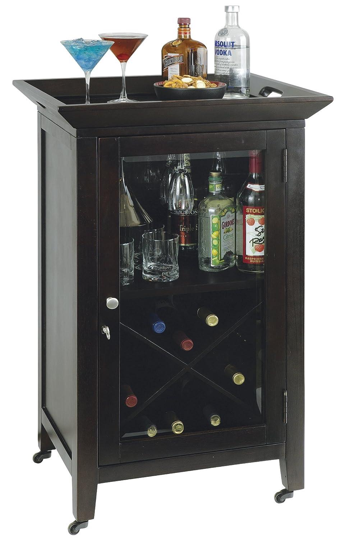 Amazon.com: Howard Miller 695-074 Butler Wine & Bar Cabinet ...