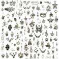 Wholesale Bulk Lots Hallowmas Skull Skeleton Charms Mixed Silver Plated Halloween Mask Charms Pendants DIY for Jewelry Making
