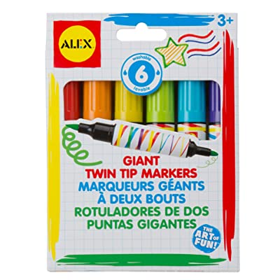 ALEX Toys Artist Studio 6 Giant Twin Tip Markers: Toys & Games