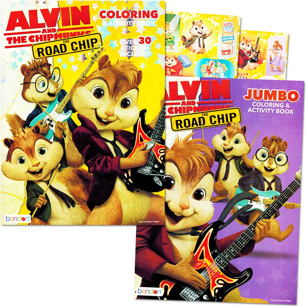amazon com alvin and the chipmunks coloring and activity book set