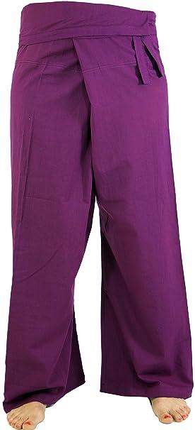 Guru-Shop, Pantalones de Pesca de Algodón Tailandés, Pantalones de Abrigo, Pantalones