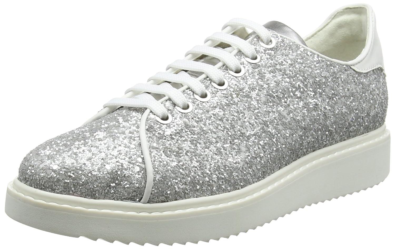 Silber (Silber Weiß) Geox Damen D Thymar C Turnschuhe
