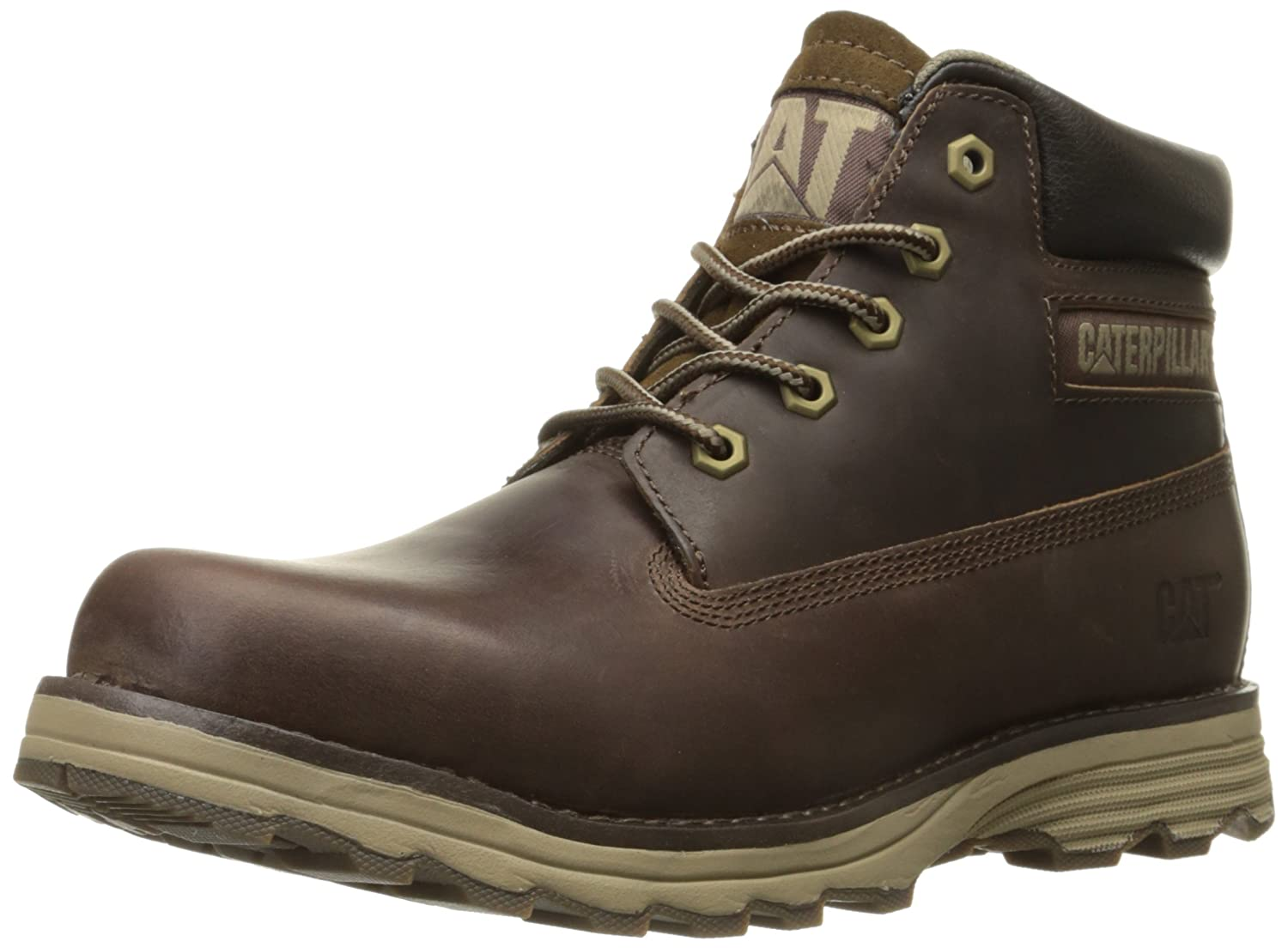 Caterpillar Founder Mens Leather Ankle Boots Brown [並行輸入品] B014QBHUBU 10.5 D(M) US Men|ダークブラウン ダークブラウン 10.5 D(M) US Men