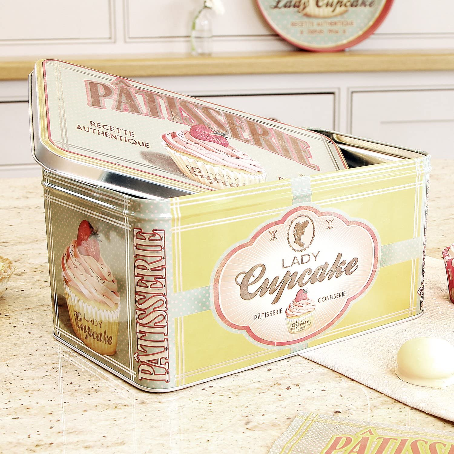 Vintage French Kitchen Storage Tin