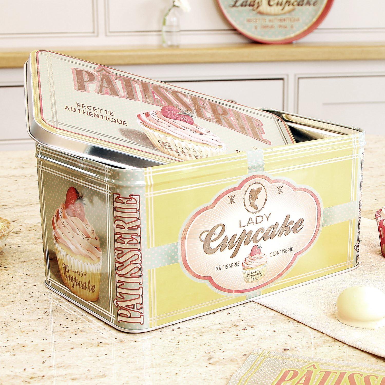 Vintage French Kitchen Storage Tin