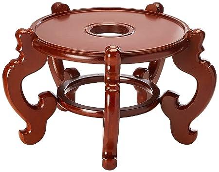 Oriental Furniture Rosewood Fishbowl Stand – Honey – Size 15.5 in. Base Diameter